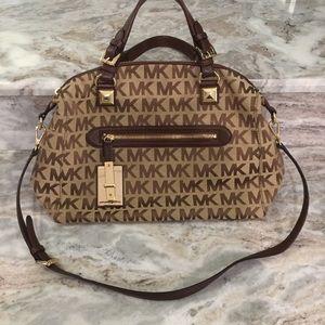 Michael Kors large satchel logo handbag